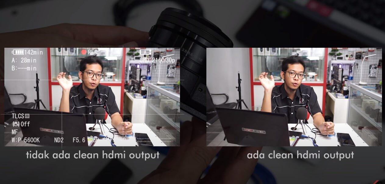 perbedaan hasil tidak clean hdmi dan clean hdmi output