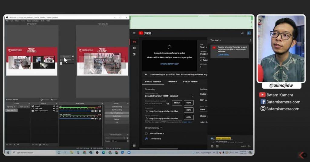 Cara Membuat Acara Upacara Live Streaming Virtual Zoom Batam Kamera
