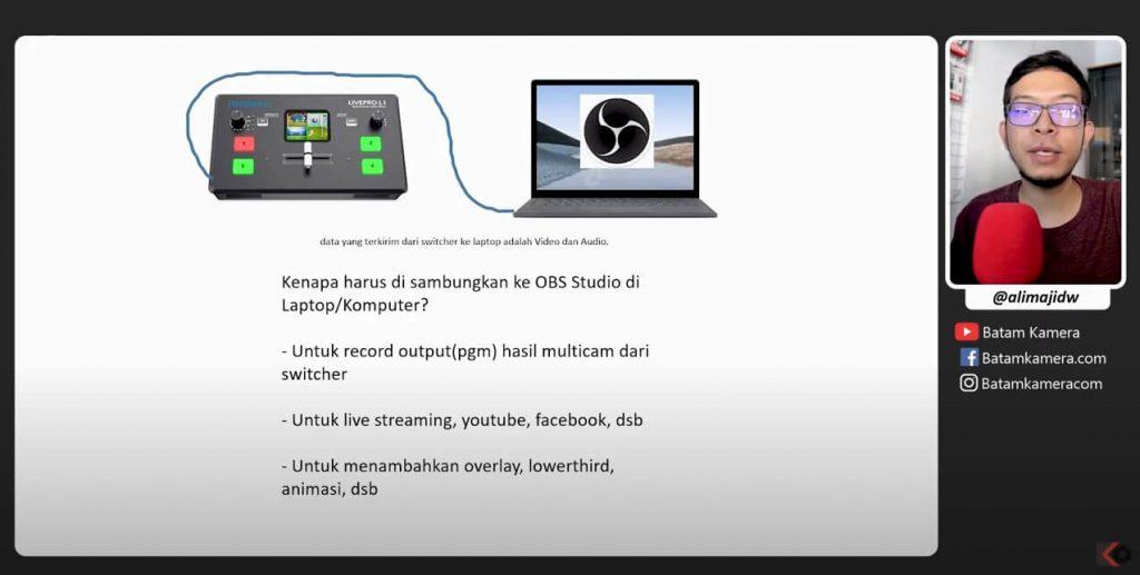 Cara Menyambungkan Feelworld Live Pro L1 V1 to OBS